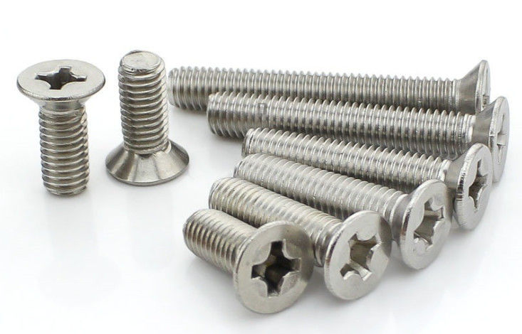 M5 A2  Small White 1 2 Inch Steel Machine Screws Hardware Pozi / Combined Drive