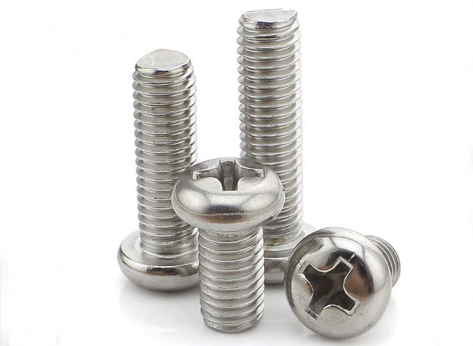 Bright Finish Slotted Metric Pan Head Phillips Machine Screws Stainless Steel DIN7985