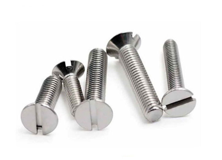 Finish Carbon Steel Slotted Countersunk Wood Screws Zinc Plated  M2.5 X 6mm - M16 X 200mm