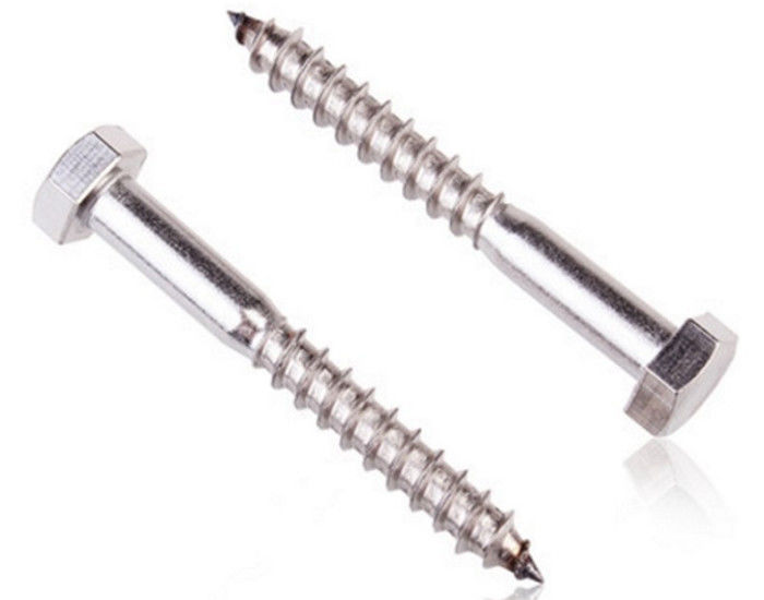 Coarse Threads Gimlet Point Rust Proof  Steel Wood Screws , Lag Bolt Screw 25mm ~ 400mm